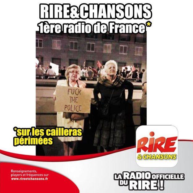 """""""Drôle"""" de réaction de Rire & Chansons"""