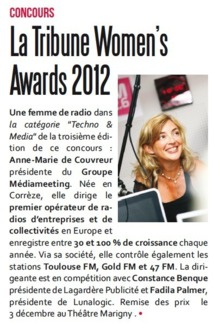La Tribune Women's Awards 2012