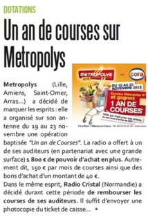 Un an de courses sur Metropolys