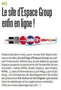 Le site d'Espace Group enfin en ligne !