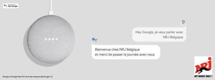 NRJ Belgique lance son application vocale sur Google