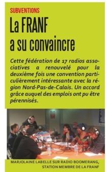 Marjolaine Labelle sur Radio Boomerang, station membre de la FRANF