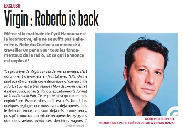 Virgin : Roberto is back
