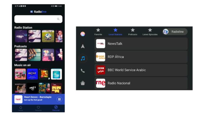 Huawei HiCar : Radioline dévoile une nouvelle application radio dediée à l'auto
