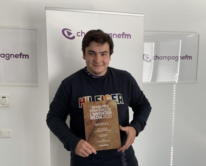 Grand Prix Stratégies de l'Innovation média 2020 pour Champagne FM