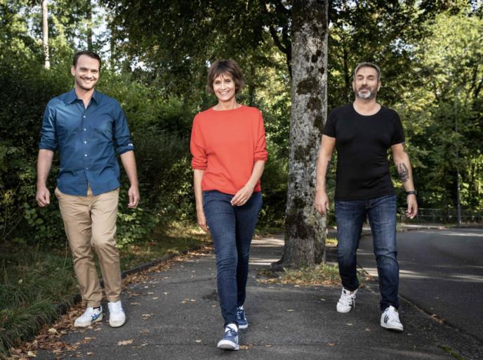 Vincent Veillon, Tania Chytil et Philippe Martin © RTS - Anne-Laure Lechat