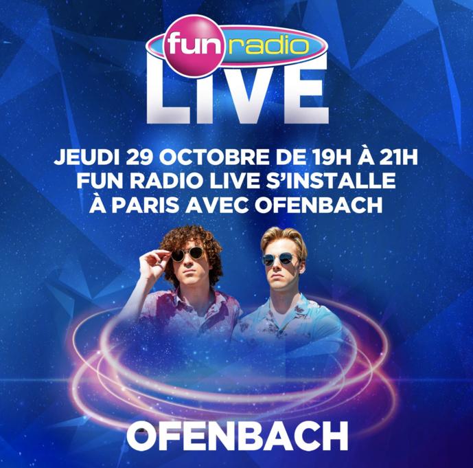 Fun Radio Live s'installe à Paris avec Ofenbach