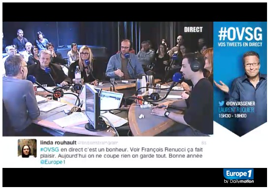 Live-Tweet sur Europe 1