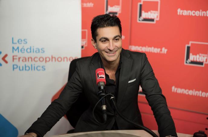 """Emmanuel Khérad présente l'émission """"La Librairie Francophone"""" @ Christophe Abramowitz - Radio France"""