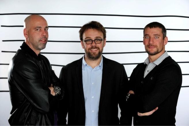 Sinik, Bruno Salomon (journaliste France Bleu 107.1) et Pierre Ducrocq © RF Christophe Abramowitz