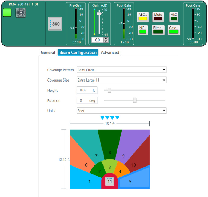 Le paramétrage du système est très simple, un seul logiciel suffit qui pilote le Converge Pro 2.