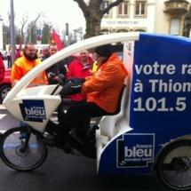 Le désormais célèbre triporteur de France Bleu Lorraine