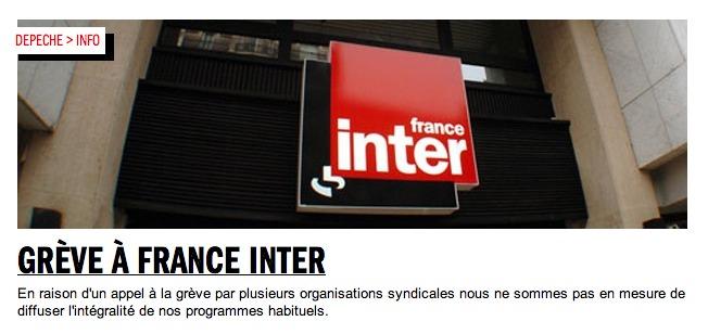 France Inter : AG à 14h