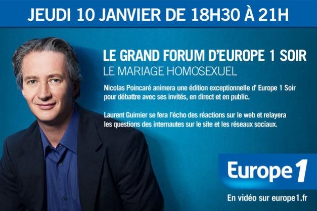 Un Grand Forum de 150 mn sur Europe 1