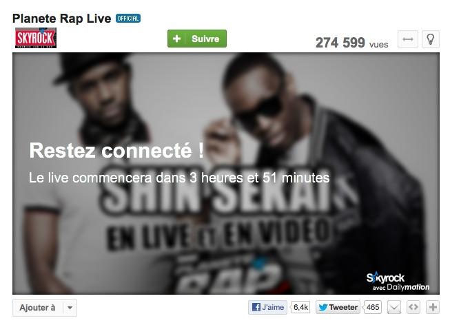 Live vidéo dans Planète Rap