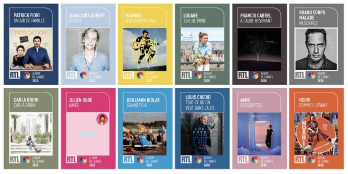 """RTL lance son Prix """"Album de l'année 2020"""""""