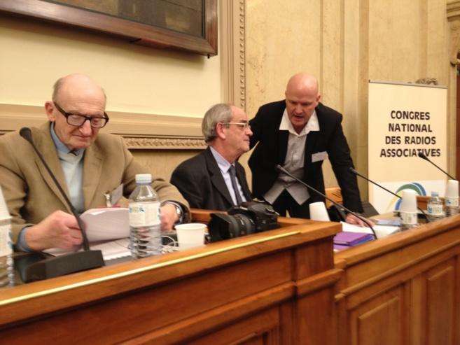Frank Jehl (à droite) en pleine conversation avec Patrice Gélinet, du CSA, au dernier congrès de la CNRA.
