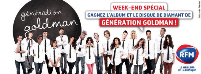 Week-end spécial Génération Goldman sur RFM avec à gagner, l'album et le disque de diamant dédicacé