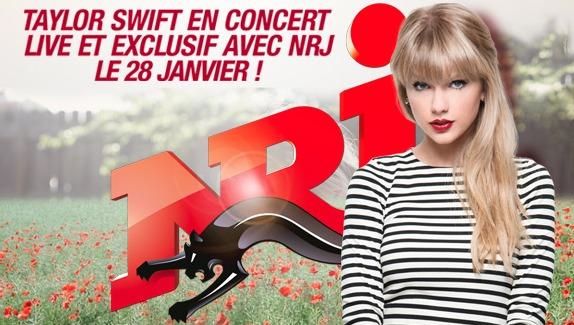 Taylor Swift sur une péniche avec NRJ