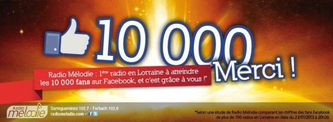 10 000 fans pour Radio Mélodie