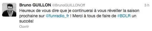 Bruno Guillon rempile sur Fun