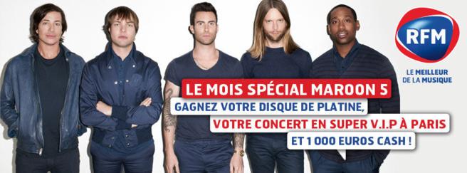 Le mois Maroon 5 sur RFM
