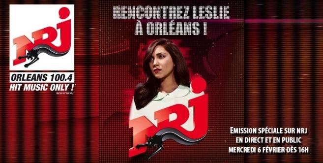 Leslie sur NRJ Orléans