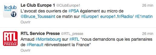 Europe 1 versus RTL