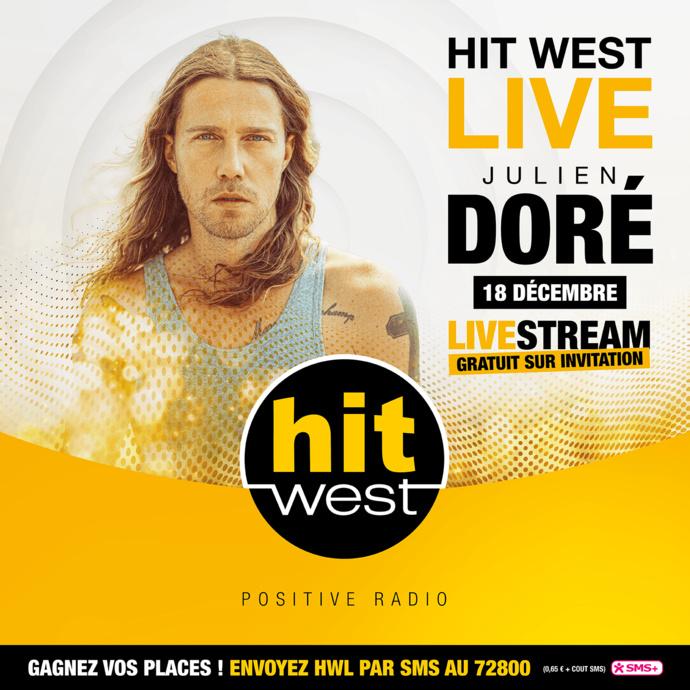 """Hit West reçoit Julien Doré pour un """"Hit West Live"""""""