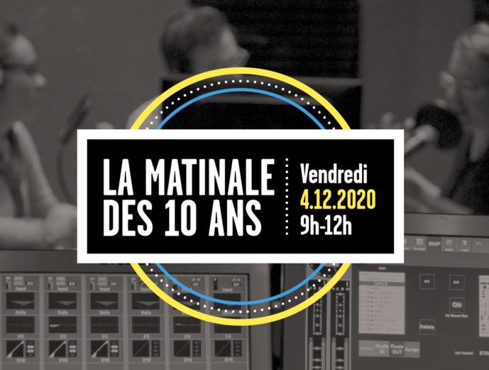 Matinale anniversaire pour les 10 ans du CQP animateur radio