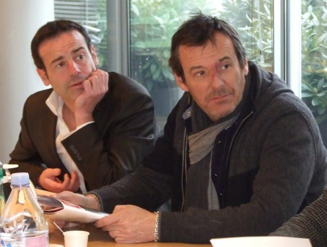 Rémi Castillo (fondateur des Jeunes Talents) et Jean-Luc Reichmann (Président du jury) le 18 janvier dernier à Médiamétrie