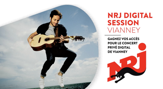 NRJ : un concert privé digital de Vianney