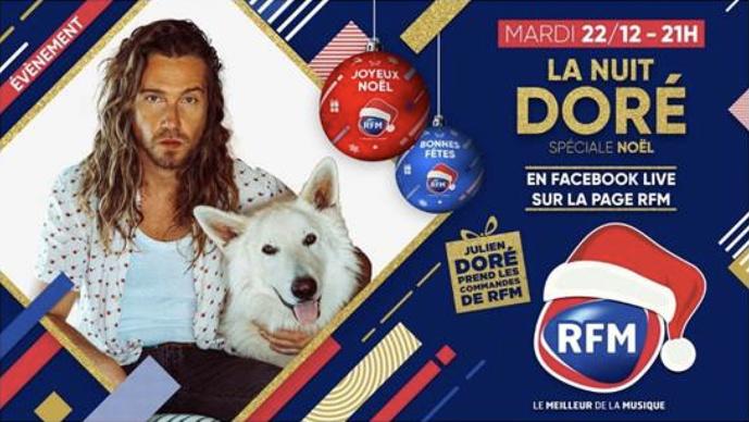 Pour Noël, Julien Doré prend le contrôle de RFM