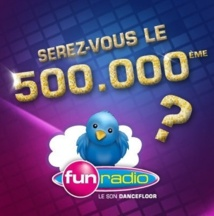 500 000 followers pour Fun Radio
