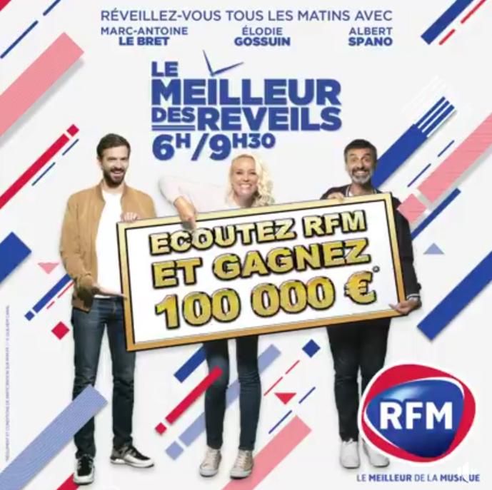 RFM offre 100 000 euros