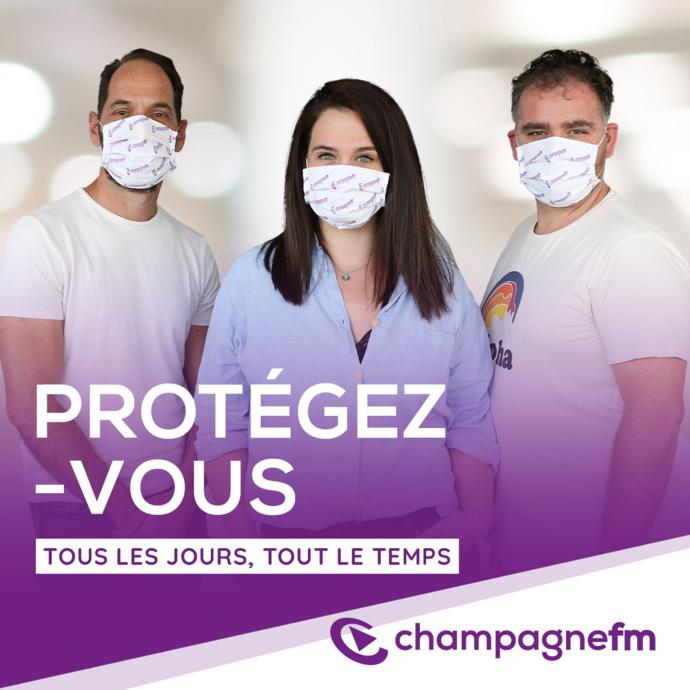 Tests Covid-19 et vaccination à Champagne FM