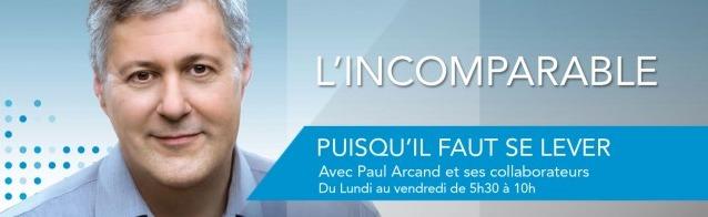 Paul Arcand l'animateur le plus écouté à Montréal et au Québec