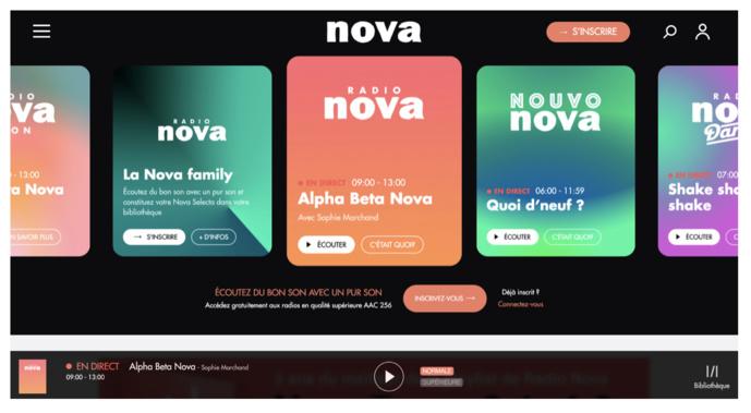 Radio Nova : nouveau site et nouvelle application