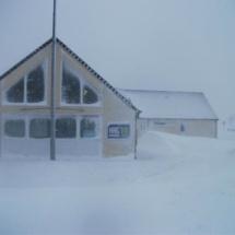Les locaux de HAG'FM sous la neige