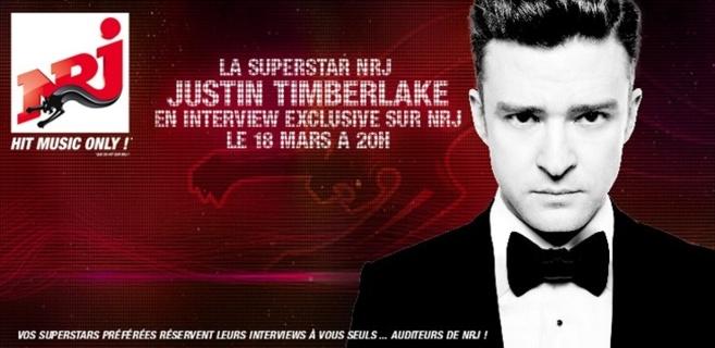 Justin Timberlake sur NRJ
