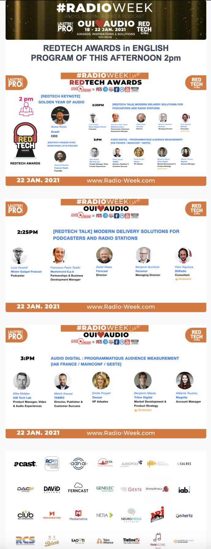 #RadioWeek : c'est au programme aujourd'hui
