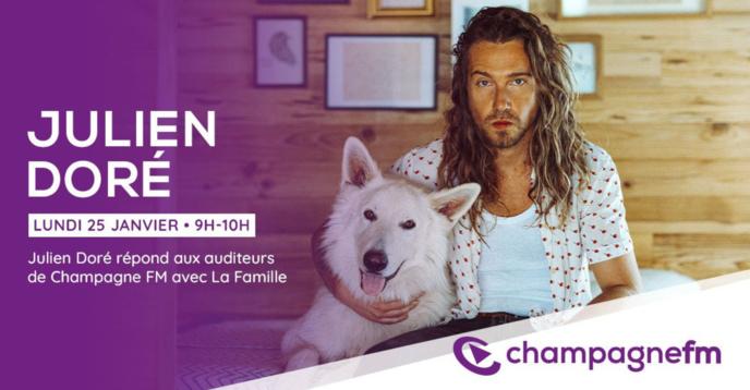 Julien Doré est l'invité de Champagne FM