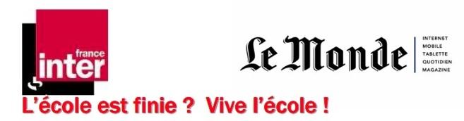 Vive l'école sur France Inter