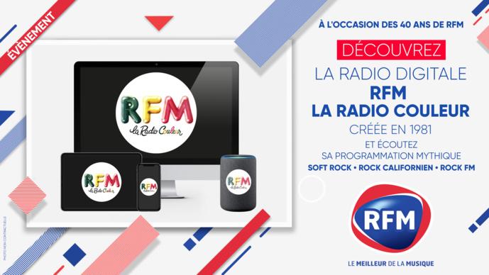 """Pour ses 40 ans, RFM fait revivre """"La radio couleur"""""""