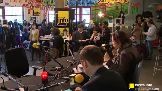 300 lycéens au micro de France Info
