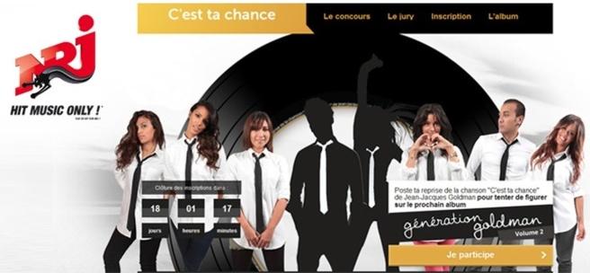 """""""C'est ta chance"""" sur NRJ"""