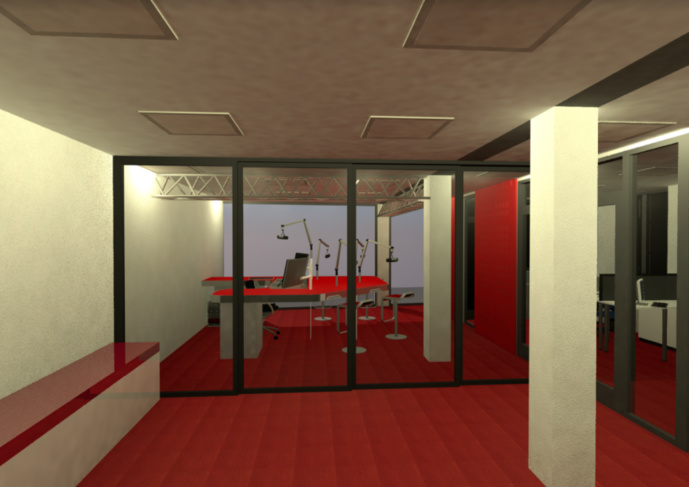 Le futur studio de 100% Radio à Toulouse. © 100% Radio.