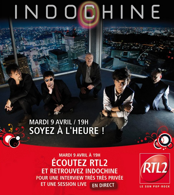 Indochine en direct sur RTL2