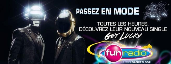 Depuis ce matin, Fun Radio s'est mise en mode Daft Punk sur l'ensemble de ses supports digitaux