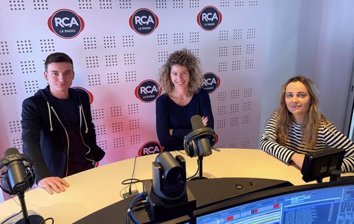 La rédaction de RCA : Valentin Esève, Julie Droin et Hélène Hamon